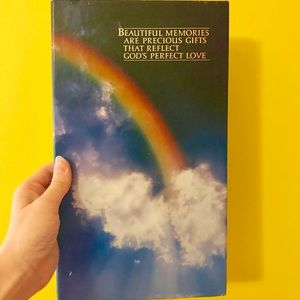 Deadstock vintage 80s rainbow photo album
